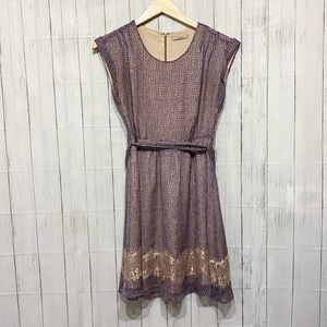 Darling Purple and Tan Dress - S
